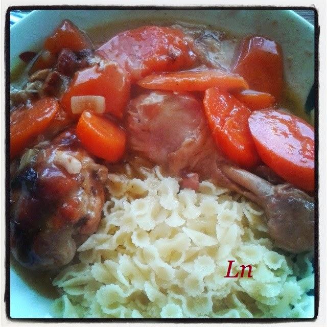Keskonmangemaman fricass e de poulet au vin blanc - Cuisiner des blancs de poulet moelleux ...