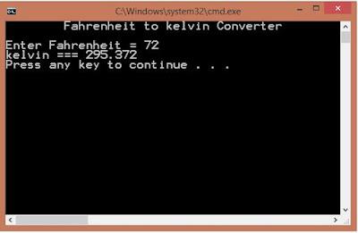 Fahrenheit to kelvin Converter
