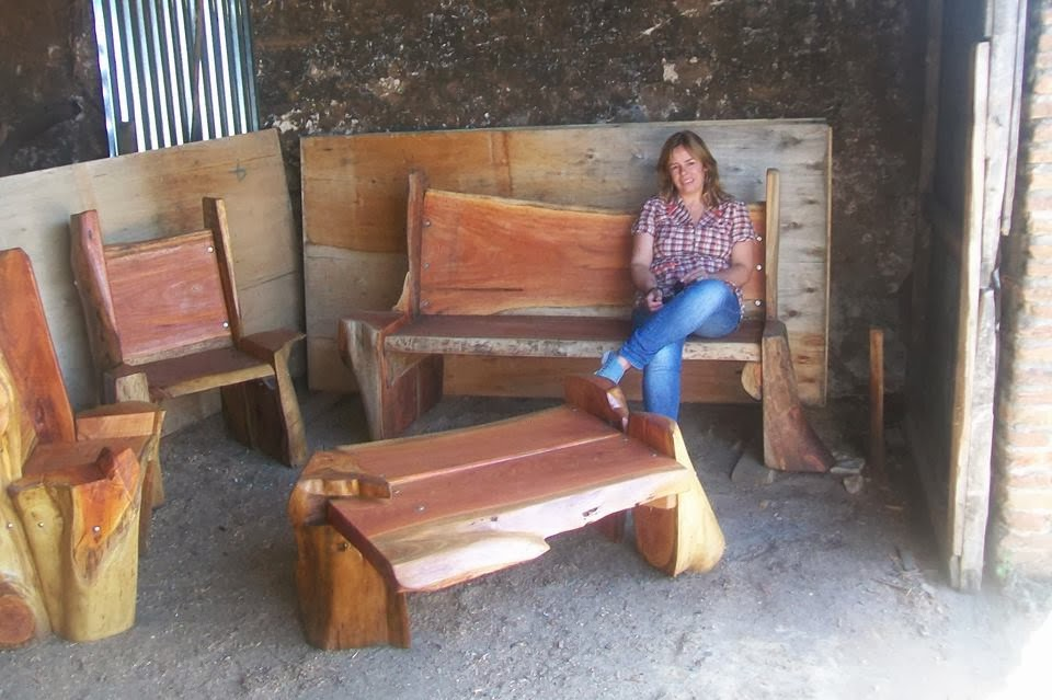 Sillas roble canadian for Sillones rusticos para living