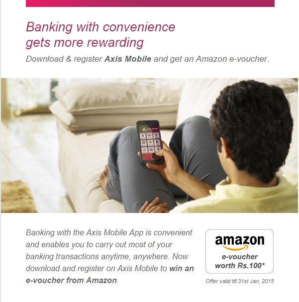Axis Bank Rs 100 voucher