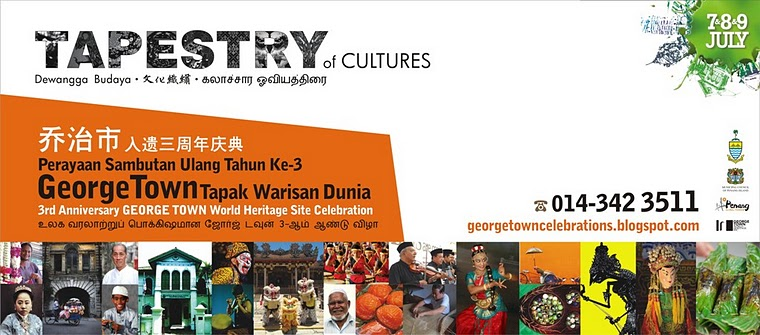 George Town Festival 2011 Event Program for Tapestry of Cultures on July 7, 8, 9
