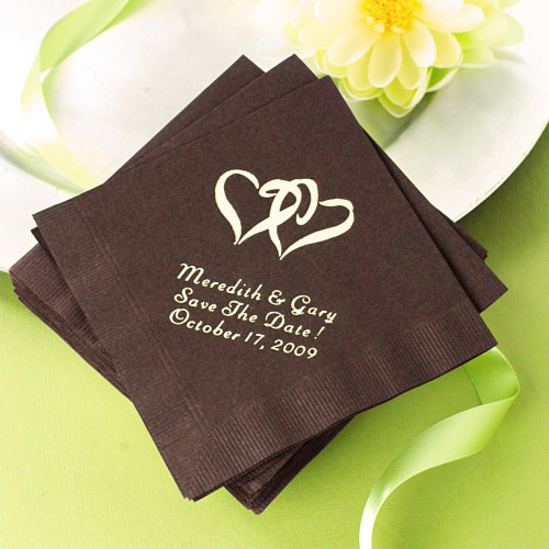 Unxia Personalized Wedding Napkins