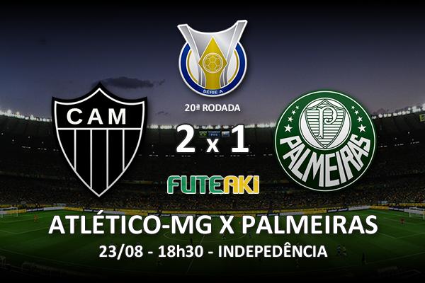 Veja o resumo da partida com os gols e os melhores momentos de Atlético-MG 2x1 Palmeiras pela 20ª rodada do Brasileirão 2015