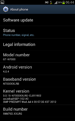 about phone ics 4.0.4 samsung galaxy note update