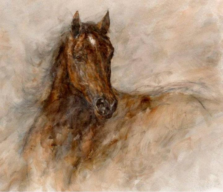 Gary Benfield 1965 | English prolific painter | The Horses