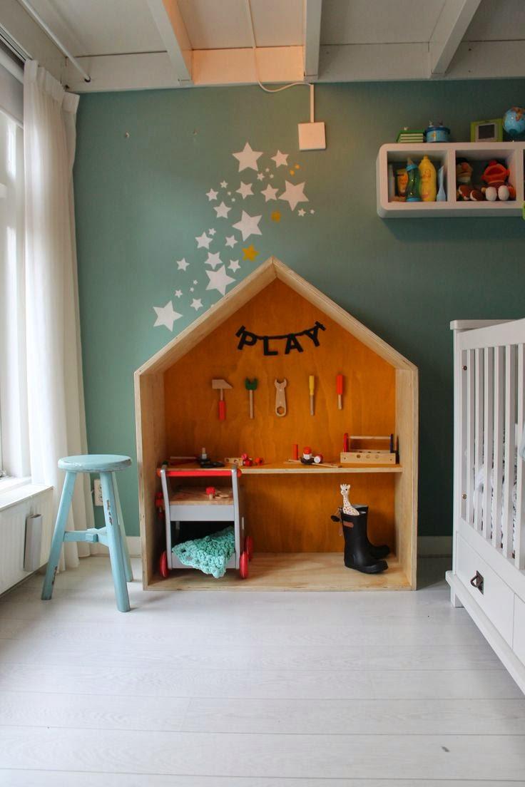 mueble con forma de casa para cuarto infantil diy