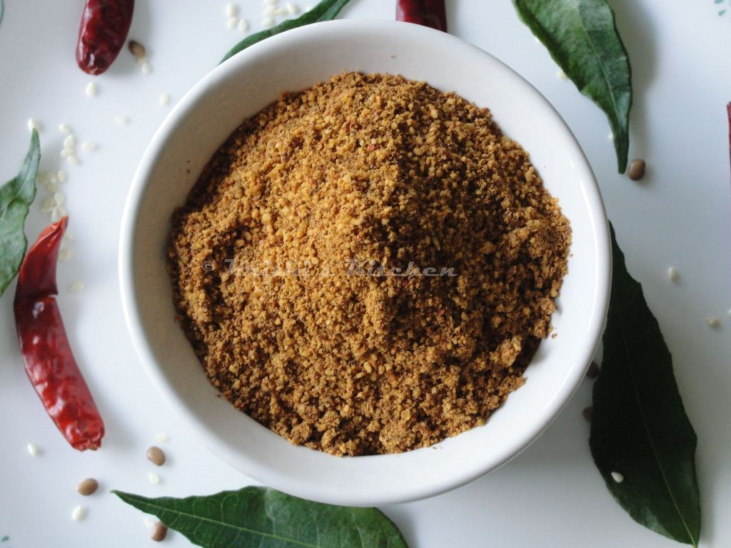 about idli podi curry leaves podi earlier here is a healthy and tasty ...