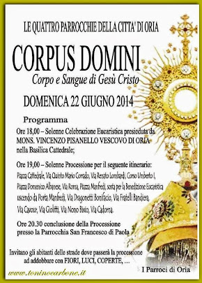 Corpus Domini 22 giugno 2014