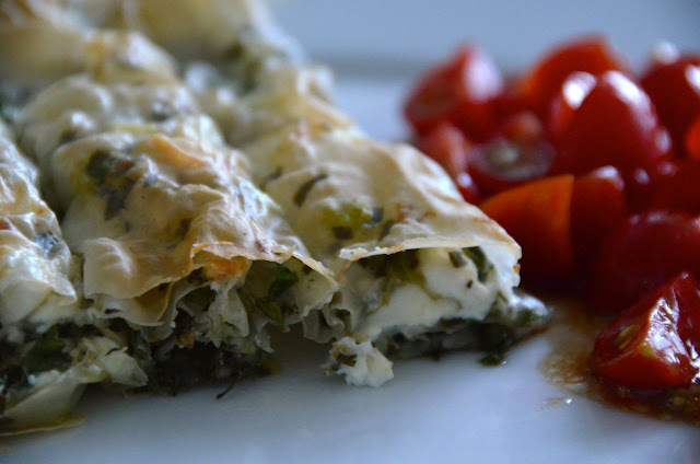 FETA CHEESE AND HERB STRUDELS