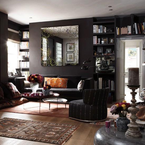 Get Home Design Ideas: Salas Elegantes En Colores Oscuros