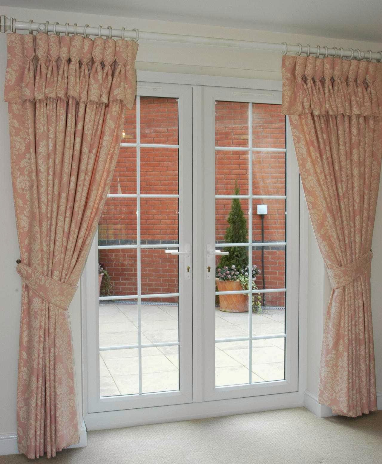 Window treatments for french doors home design ideas and for Window door design