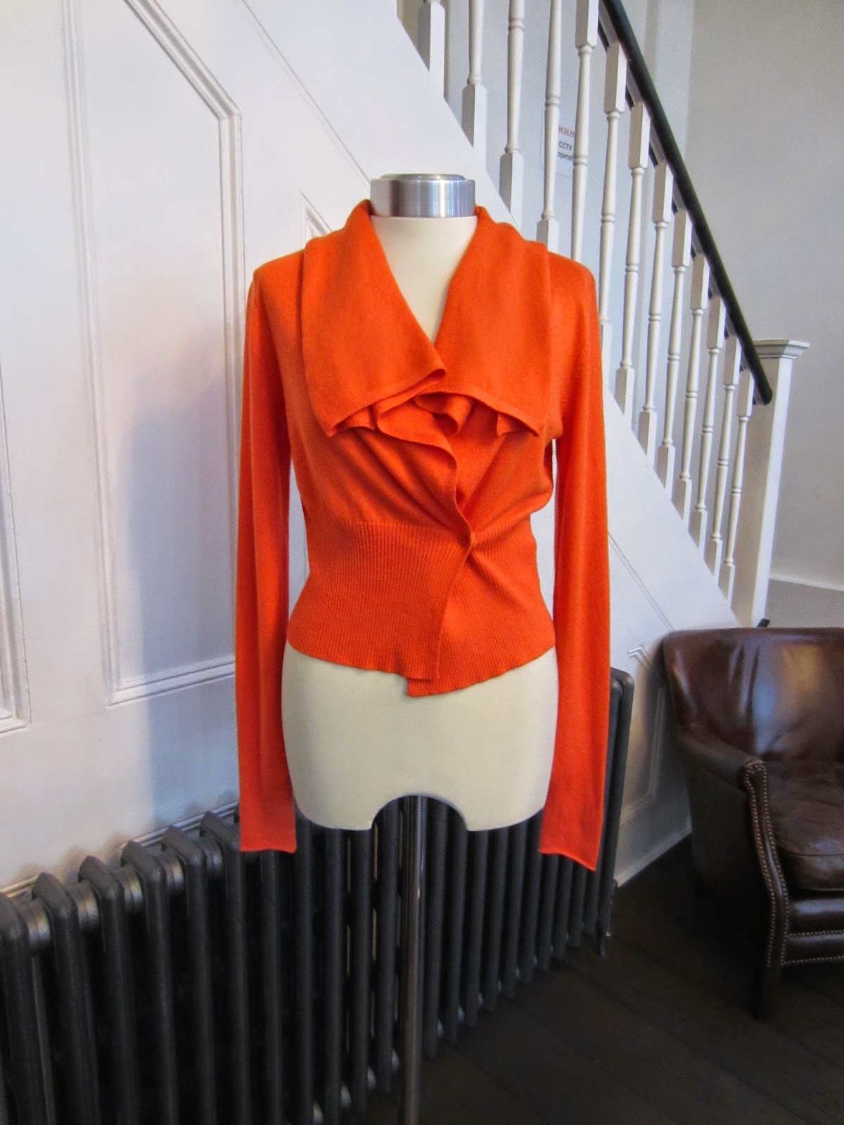 Nanette Lepore Orange Cardigan