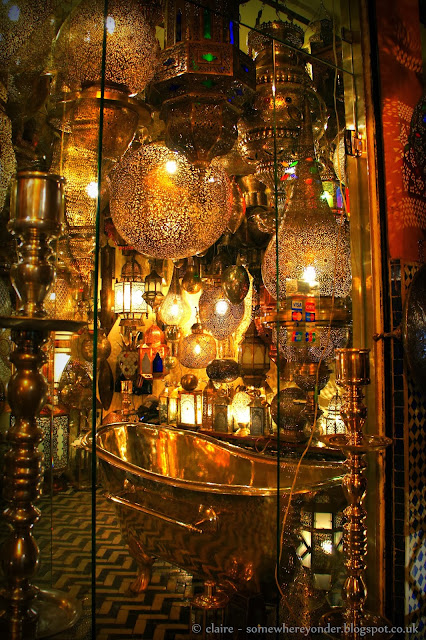 Medina of Marrakech - lantern shop