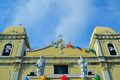 upward shot - standing in front of vito church