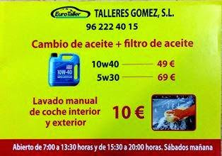 Talleres Gomez SL- Enguera.