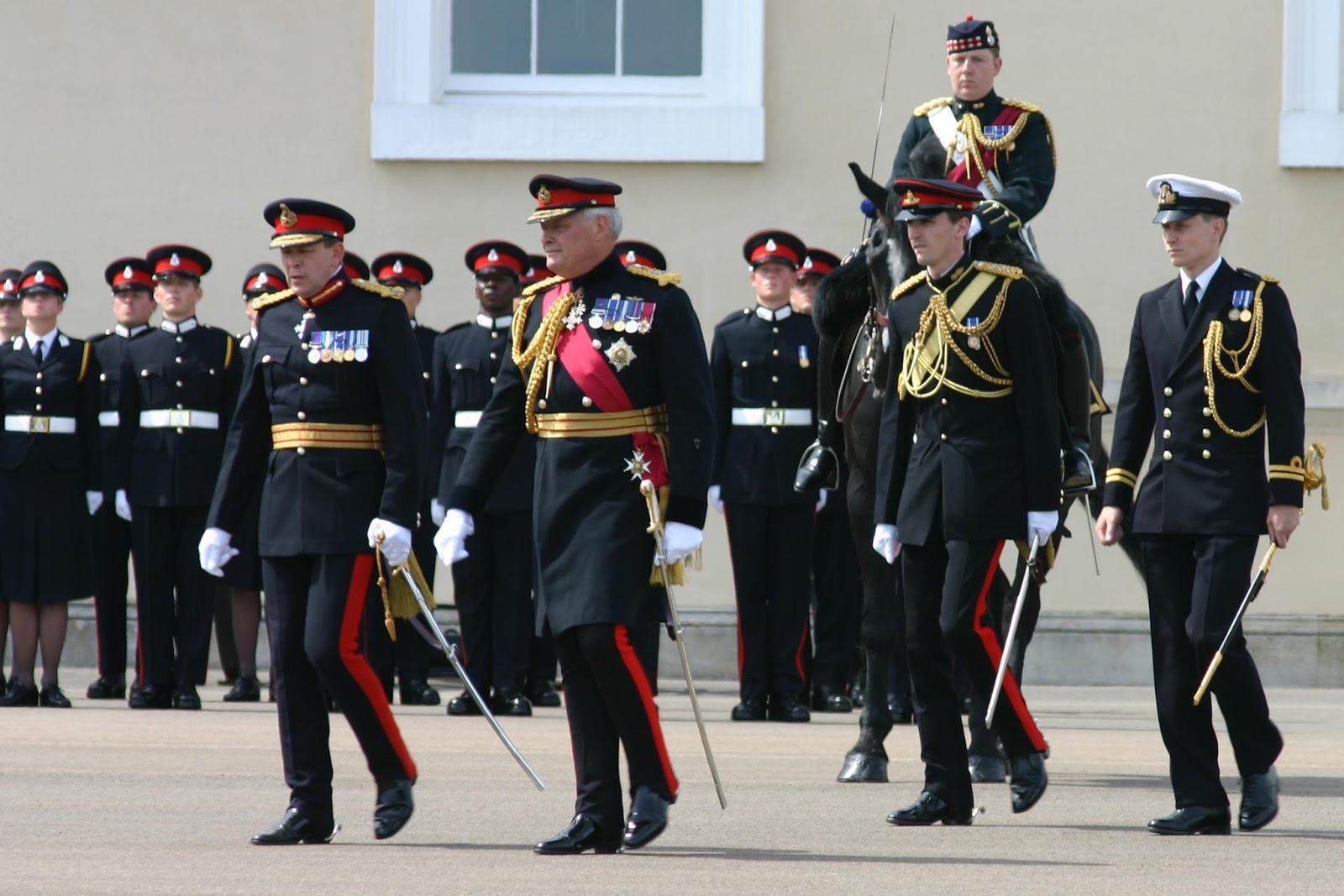 Various Diffe Patterns Of No 1 Dress Being Worn At The Royal Military Academy Sandhurst Front Row From Left To Right A Major General