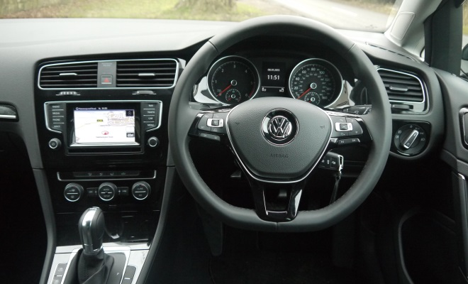 2013 right-hand-drive MkVII Golf dashboard