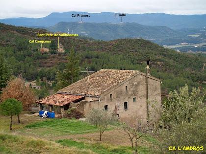 Ca l'Ambrós, la primera casa que trobem del nucli de Vallhonesta