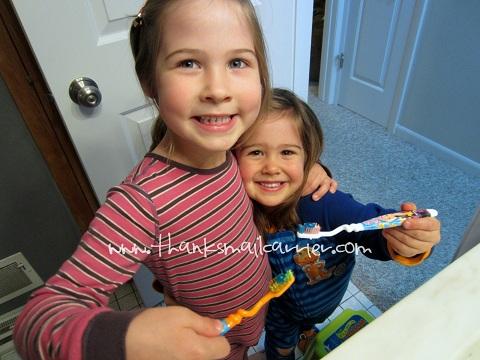 brushing kids teeth