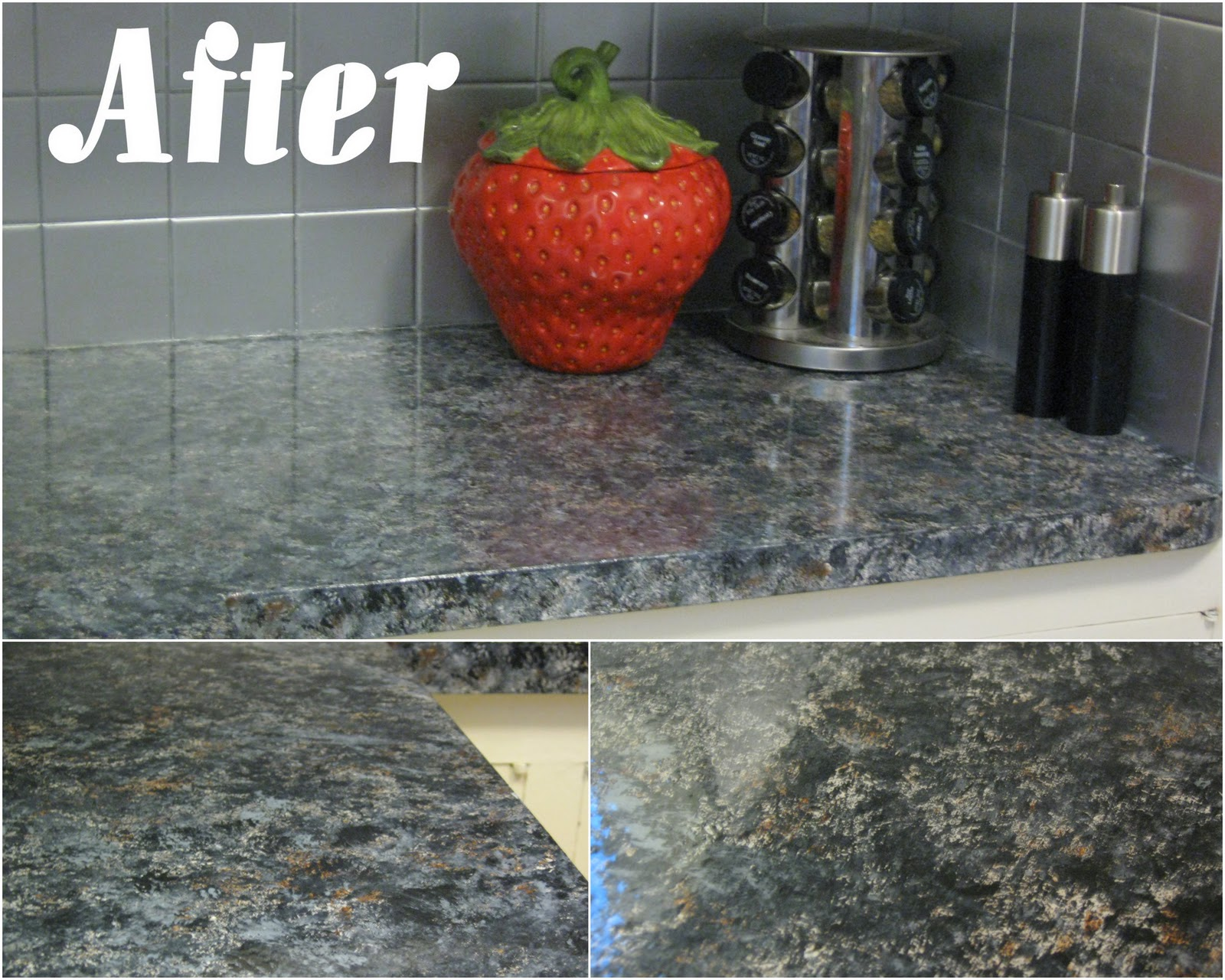 Peel And Stick Granite Countertops : Swamp hollow designs my new kitchen countertops
