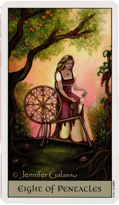 Crystal Visions Tarot  Eight of Pentacles