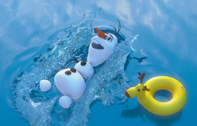 Olaf Happy Snowman Gif Review: frozen, or three