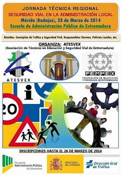 Cartel Jornada Técnica Regional de Seguridad Vial en la Administración Local