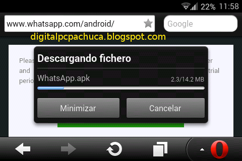 Descargando fichero Whatsapp.apk desde www.whatsapp.com/android
