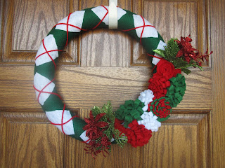 Full sized door wreath