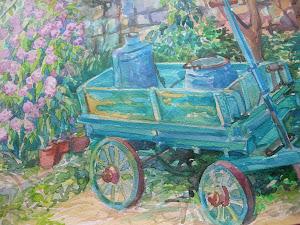 Il carro turchino (un mio acquerello, particolare)