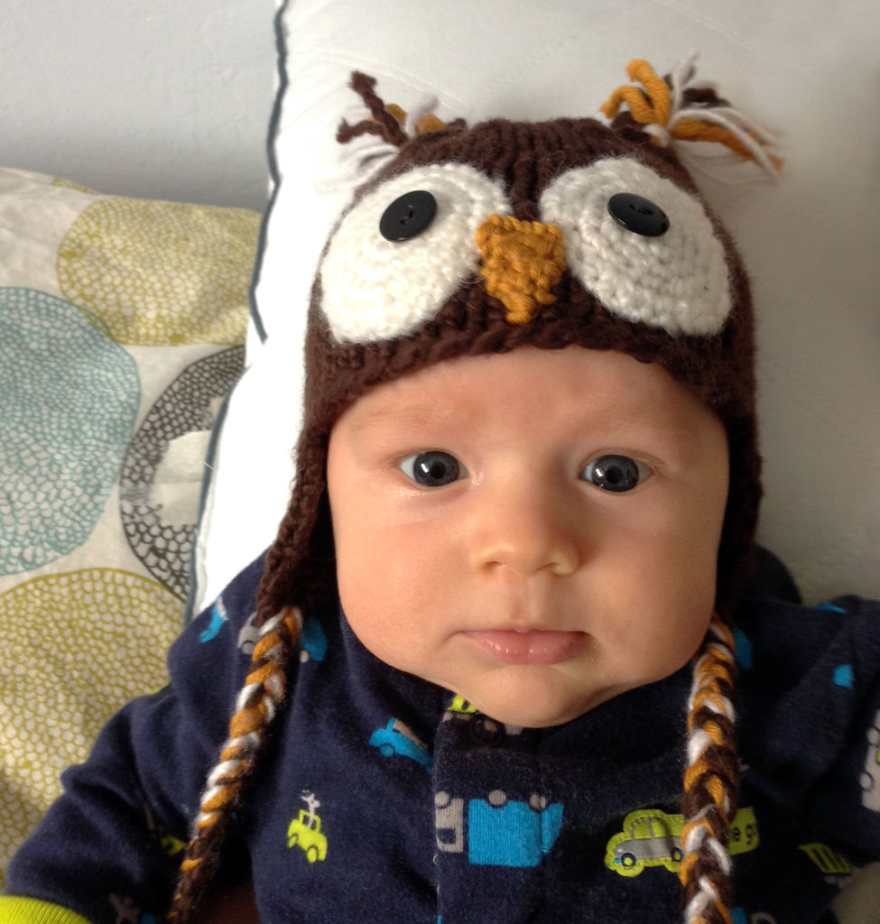 Owl Baby Hat Knitting Pattern : I Heart Pears: 10 Cutest DIY Baby Boy Projects