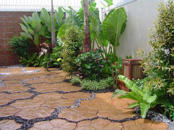 grama sintetica serve para jardim