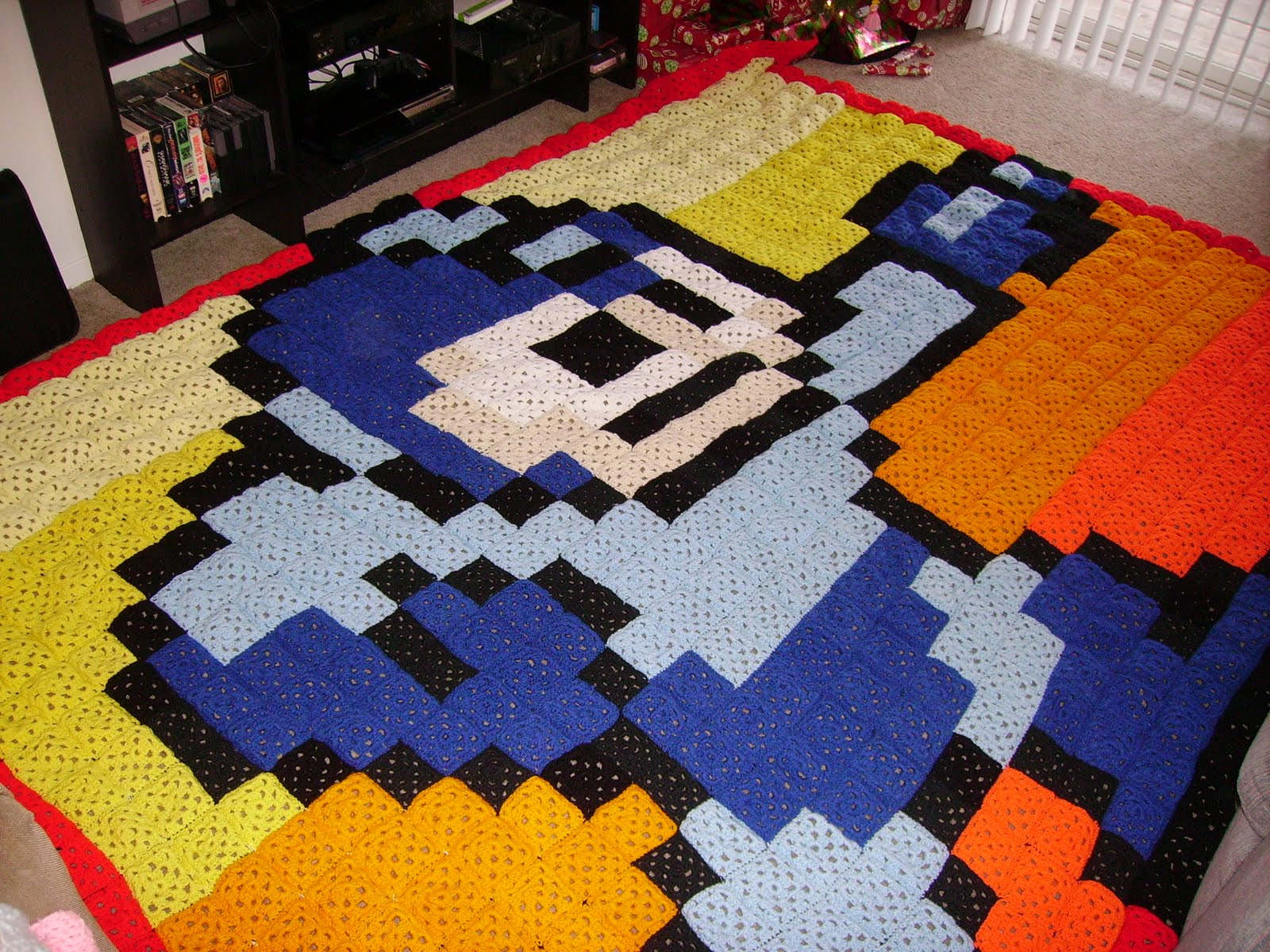 the Roundabout Method: Megaman Crochet Afghan (or the project that ...