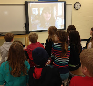 Skyping with Kate Messner!