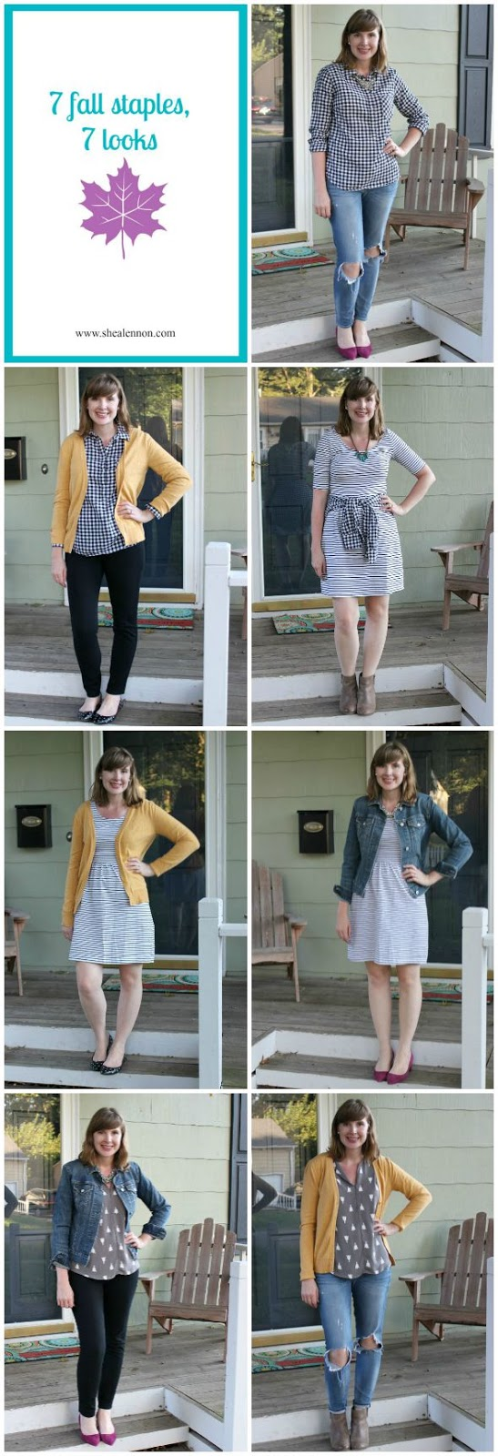 7 looks made with 7 fall staples | www.shealennon.com