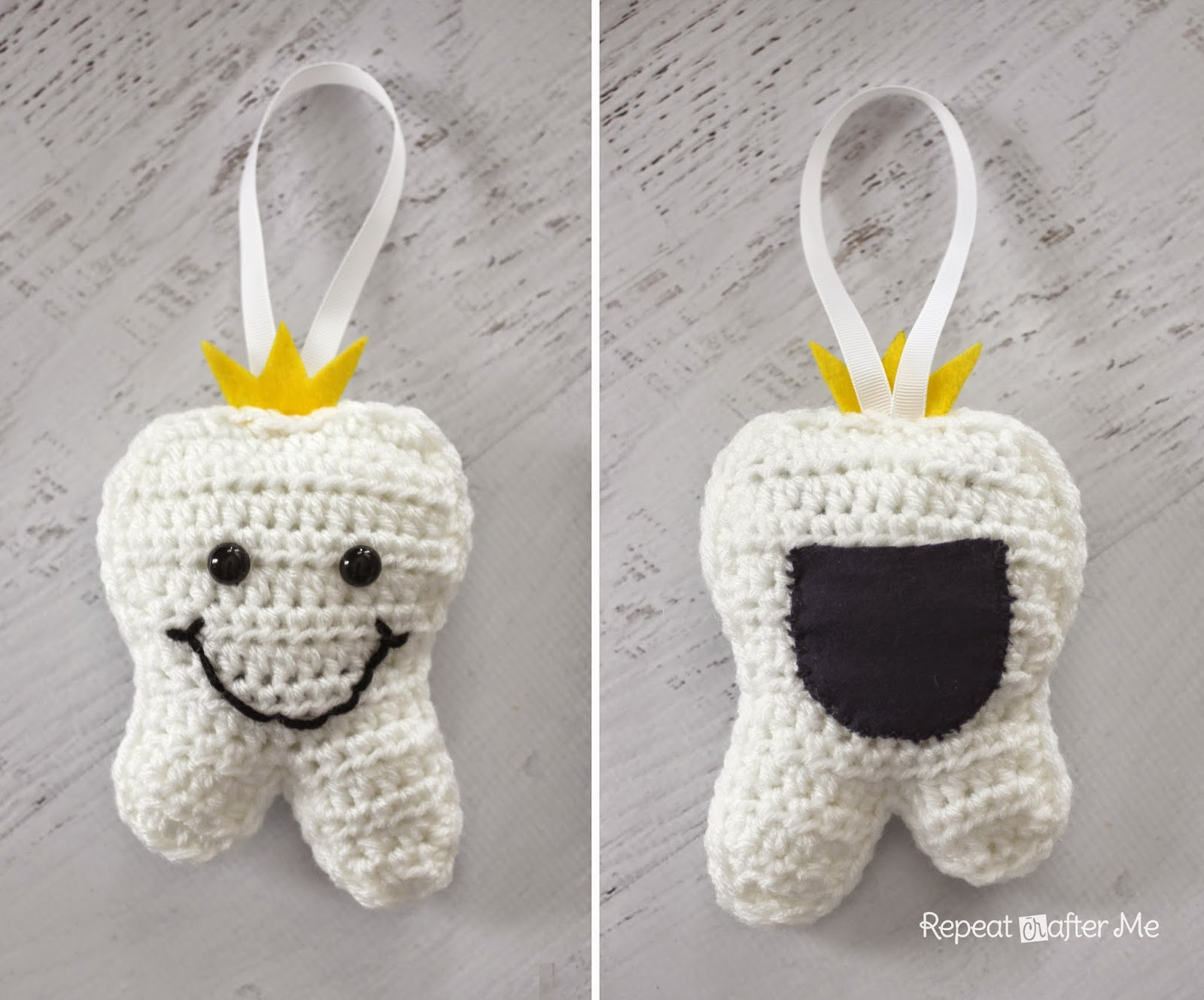 Repeat Crafter Me: Crochet Tooth Fairy Pillow