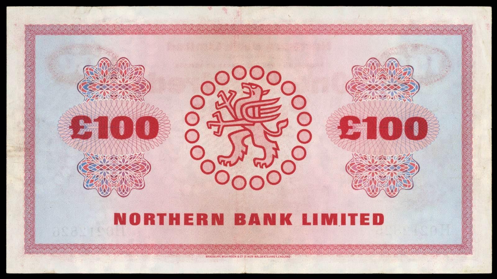 100 pound note 1978 northern bank limitedworld banknotes