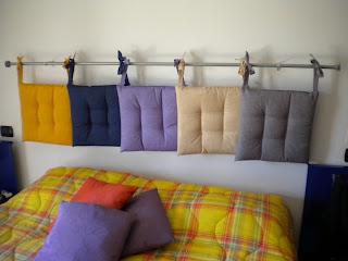 Cambio direzione con l 39 autoproduzione testiera del letto - Testiera letto fai da te cuscini ...