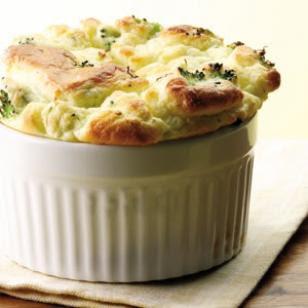 Pequeño soufflé de brócoli