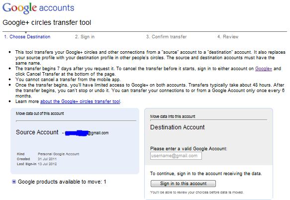 google+ transfer tool
