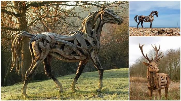 حقائق مذهلة: منحوتات مذهلة للحيوانات مصنوعة من جذور الأشجار بالصور !
