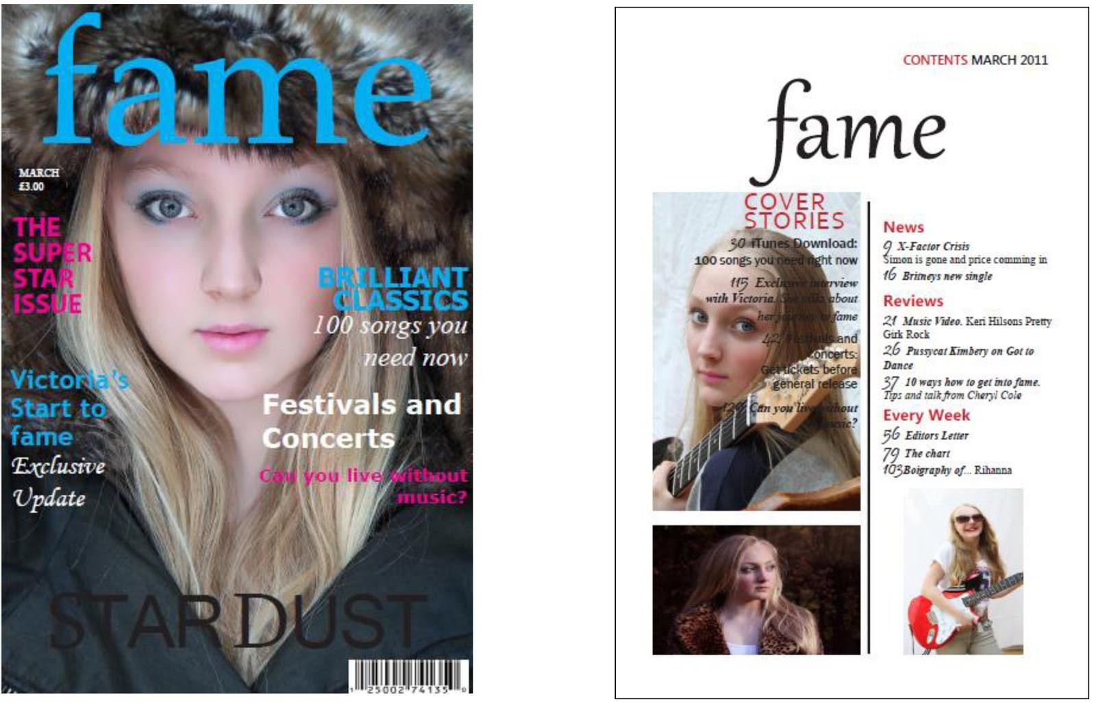 media coursework music magazine