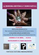 La Tertulia Cultural Mazagonense organiza una charla sobre la Memoria Histórica y Democrática