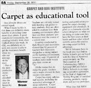 Carpet in Schools: Safer, Quieter, Easier to Clean