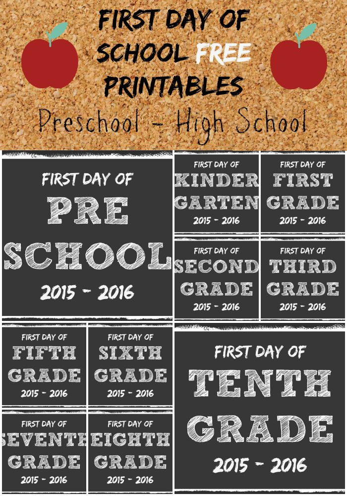 It's just a picture of Monster First Day of School Free Printable