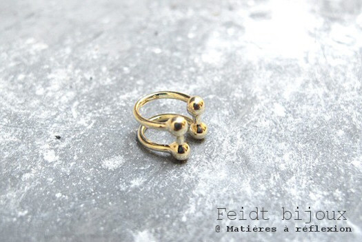 Earcuff Feidt bijoux or jaune 9k