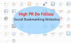 High Pr Dofollow Social Bookmarking Sites