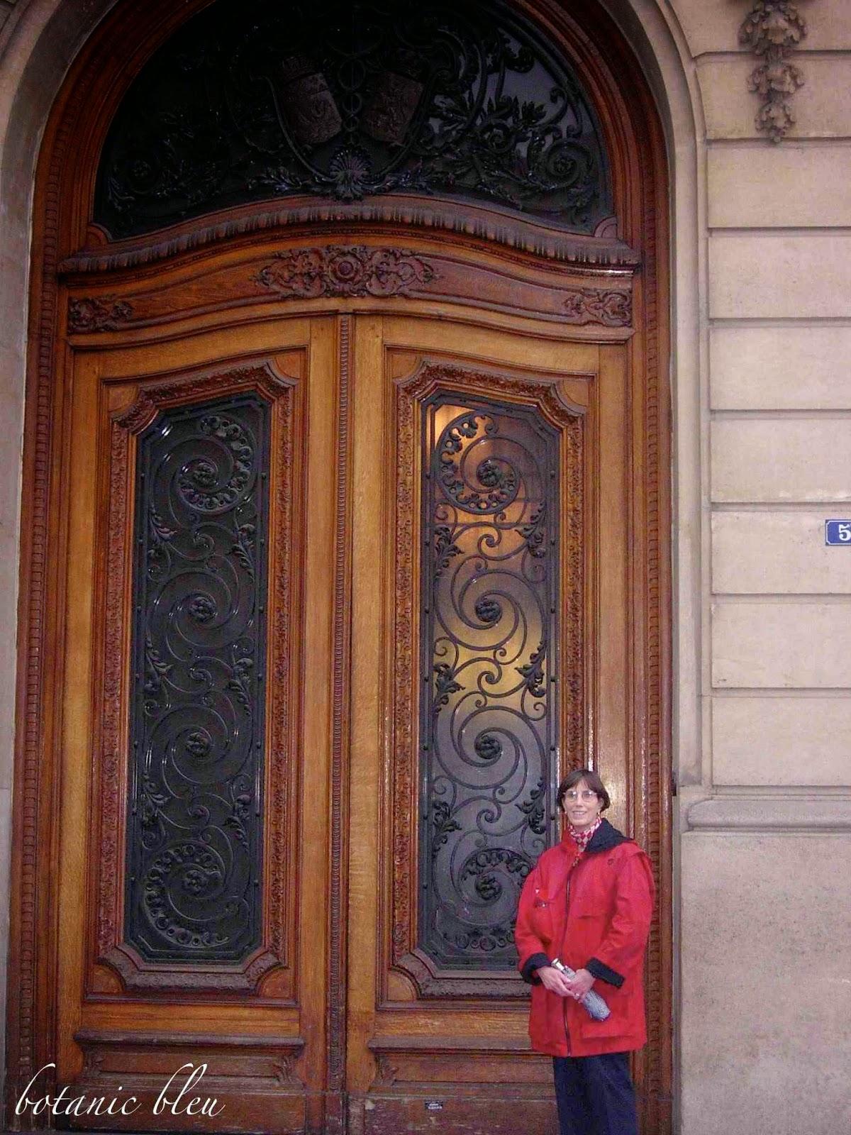 Botanic bleu amour de porte fran aise for Porte francaise