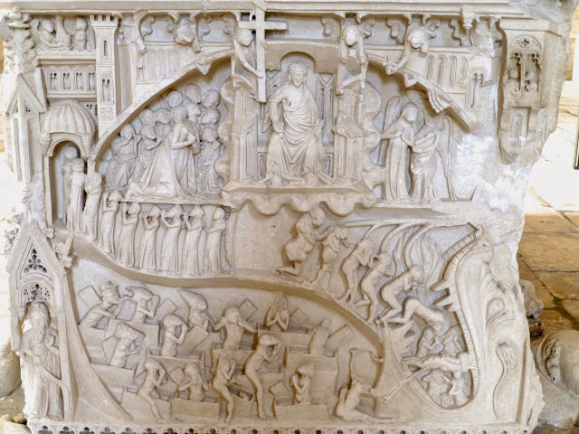 Alcobaça, juicio final sepulcro de doña Inés