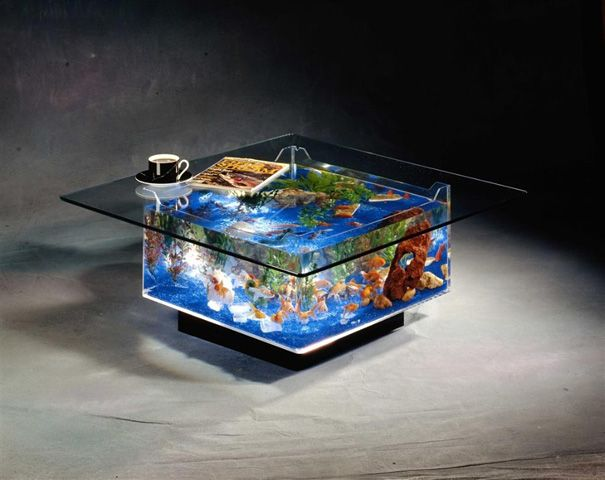 20 Akuarium Paling Unik dan Kreatif di Dunia : Fish Tank Coffee Table